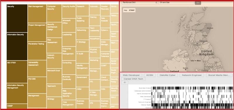 Screenshots of Geek Talent's Insights product